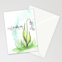 Journal Entry: Lily of the Valley Stationery Cards