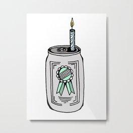 Birthday Beer Metal Print