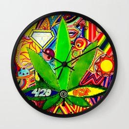 Abstract Potleaf Wall Clock