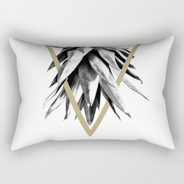 Pineapple Upside Down Geo #1 #tropical #fruit #decor #art #society6 Rectangular Pillow