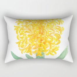 yellow hyacinth watercolor Rectangular Pillow