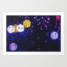 colourful rain Art Print