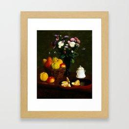 Henri Fantin-Latour Flowers and Fruit Framed Art Print