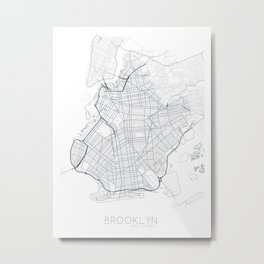 Made In Maps - Brooklyn Metal Print