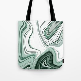Bold Green Agate Stone Effect Design Tote Bag