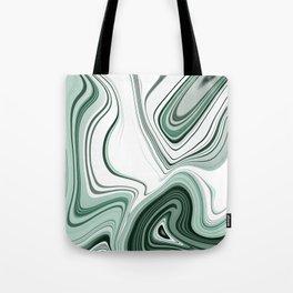 Bold Green Agate Stone Effect Design Tote Bag