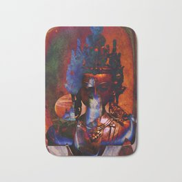 Dakini Wisdom Goddess #7 Dark Mirror Bath Mat