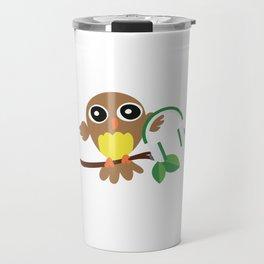 Owls Music Lovers Musicians Nocturnal Birds Night Hunter Animals Wildlife Wilderness Gift Travel Mug