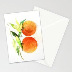 Watercolor oranges Stationery Cards