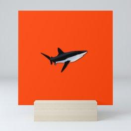 Bright Fluorescent Shark Attack Orange Neon Mini Art Print
