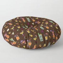 Tropical Drinks Floor Pillow