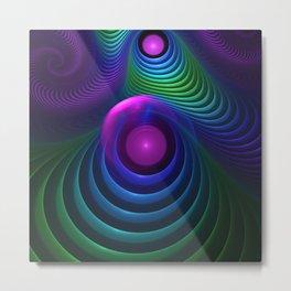 Beautiful Rainbow Marble Fractals in Hyperspace Metal Print
