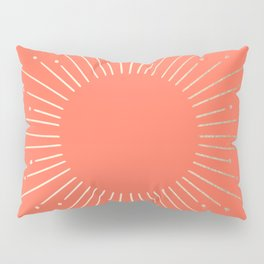 Simply Sunburst in Deep Coral Pillow Sham