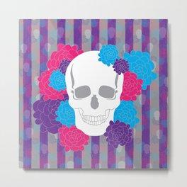 Large Hana Skull Metal Print