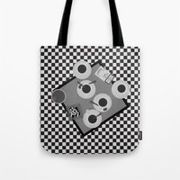 cigarettes Tote Bags featuring coffee and cigarettes by Live It Up
