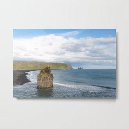 Reynisfjara beach - landscape photography Metal Print