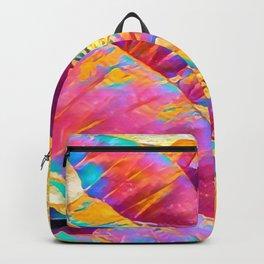 Taro Leaves in Rainbow Aloha Backpack