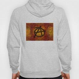 Distressed Anarchy Symbol Hoody