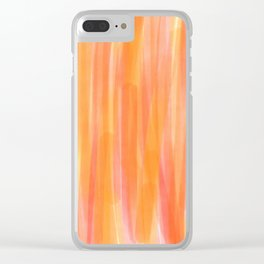 Sunset Red Orange and Yellow Watercolor Clear iPhone Case