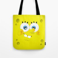 spongebob Tote Bags featuring SpongeBob by solostudio