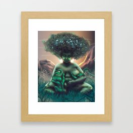 Mother Baobab Framed Art Print