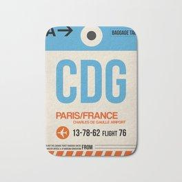 CDG Paris Luggage Tag 2 Bath Mat