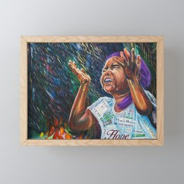 Healing Rain Framed Mini Art Print