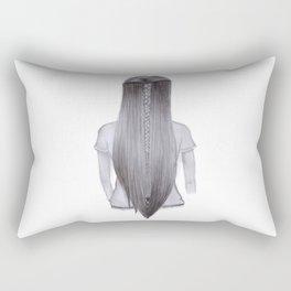 Long Braided Hair Rectangular Pillow