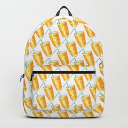 Orange Juice Pattern Backpack