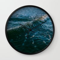 gravity Wall Clocks featuring Gravity by Leah Flores