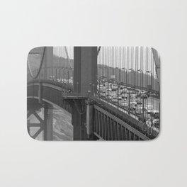 Golden Gate bridge at San Francisco [B&W] Bath Mat