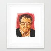 crowley Framed Art Prints featuring Crowley by Heather Davies-Devoe