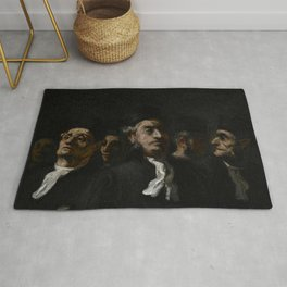 """Honoré Daumier """"A Meeting of Lawyers"""" Rug"""