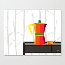 Mocha expresso maker Canvas Print