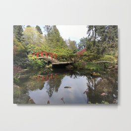 Japanese Garden Pond Metal Print