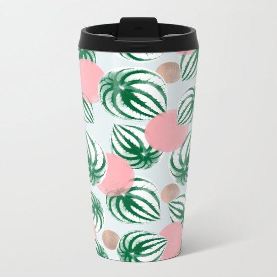 Watermelon Peperomia Pattern Metal Travel Mug