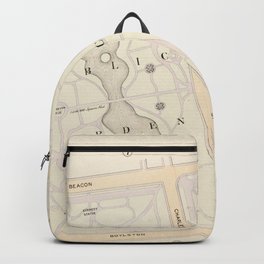 Vintage Map of The Boston Commons (1895) Backpack