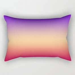Purple-red Ombre Rectangular Pillow