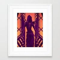 dragon age Framed Art Prints featuring Dragon Age: Morrigan by Sara Cuervo