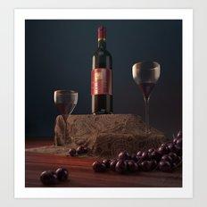 Wine n' Dine Art Print