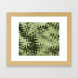 Splash Olive Framed Art Print