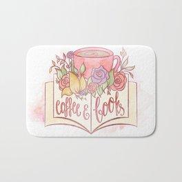 COFFEE & BOOKS Bath Mat