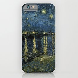 Vincent Van Gogh - Starry Night Over the Rhone iPhone Case