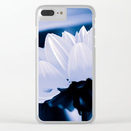 Fresh White Petals On Blue Clear iPhone Case