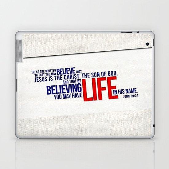 Life in His Name Laptop & iPad Skin