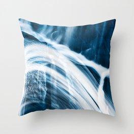 Blue Banshee Falls Throw Pillow