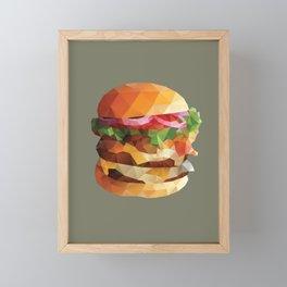 Gourmet Burger Polygon Art Framed Mini Art Print