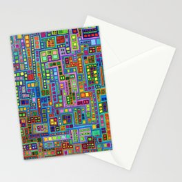 Tiled City Stationery Cards