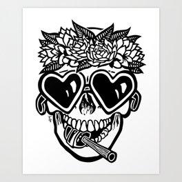 Sweet Tooth ~ Black Art Print
