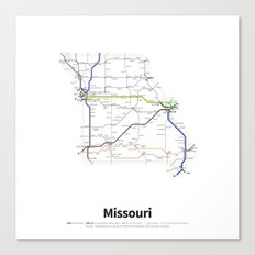 Highways of the USA – Missouri Canvas Print